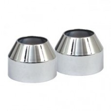MCS FORK BOOT COVERS, CHROME